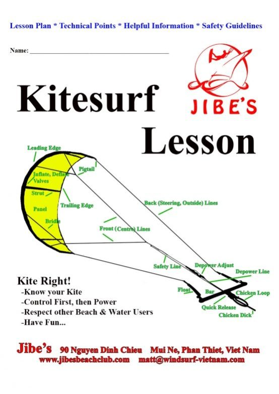kitesurf lesson cover page