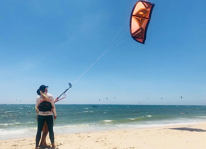 kite lesson Jibe's